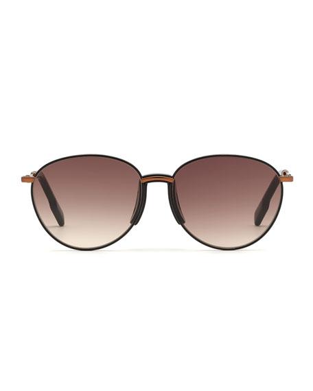 Kenzo Men's Bronzed Metal Round Sunglasses