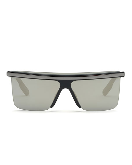 Image 2 of 2: Kenzo Men's Flat-Top Sunglasses w/ Metal Trim