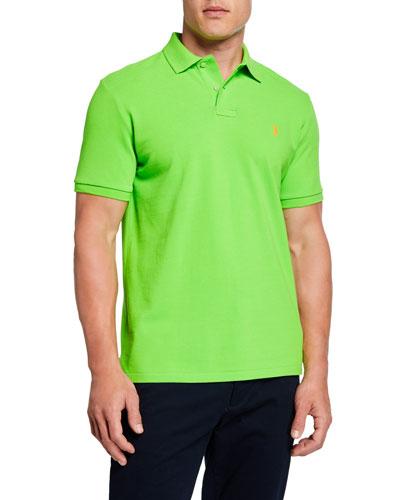 Men's Logo-Embroidered Polo Shirt  Green