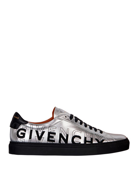 Givenchy Men's Urban Street Metallic Logo Sneakers