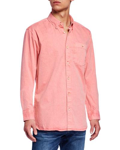 Men's Garment-Dyed Twill Sport Shirt