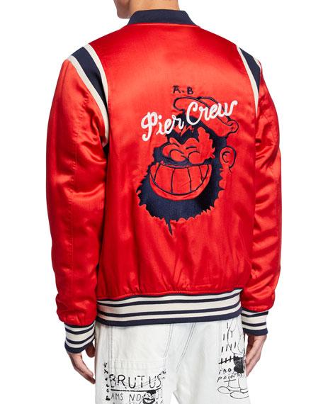 Scotch & Soda Men's Popeye's 90th Anniversary Brutus Graphic Bomber Jacket