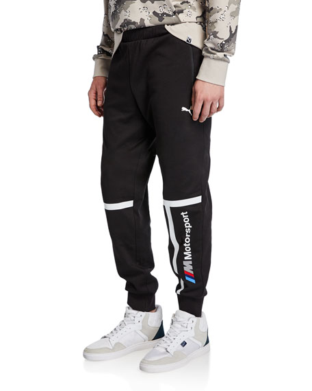 Puma Men's BMW MMS Striped Logo Sweatpants