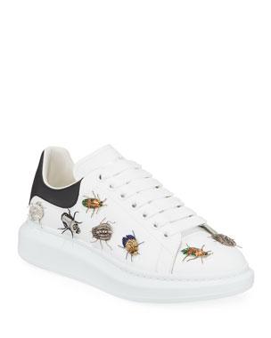 cd482442e8 Alexander McQueen Men's Larry Beetle Ornament Platform Sneakers