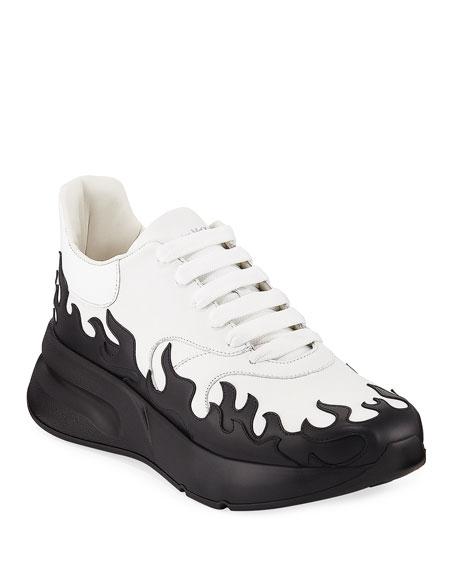 Alexander McQueen Men's Flame Two-Tone Chunky Runner Sneakers
