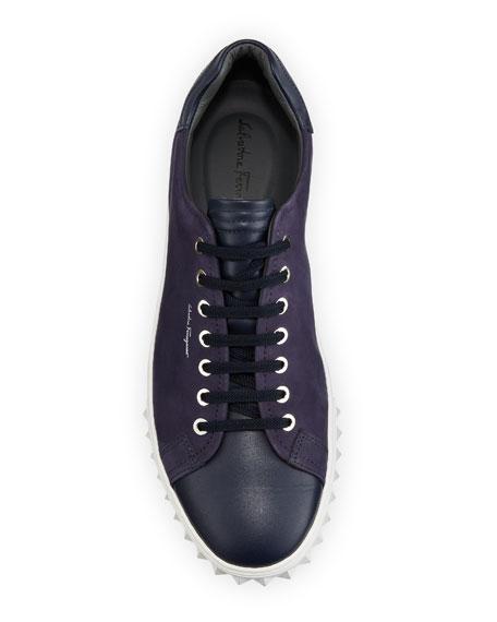 Salvatore Ferragamo Men's Leather Low-Top Sneakers