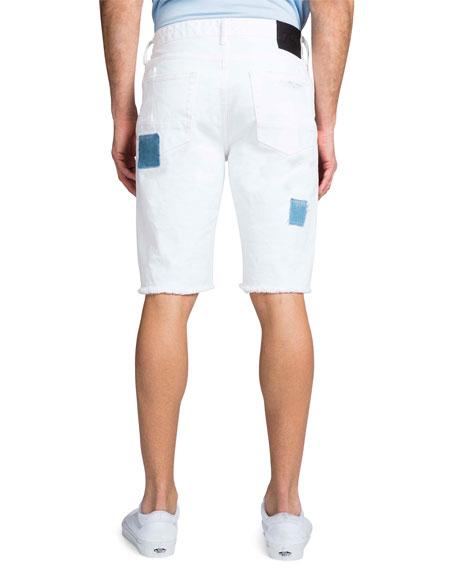 PRPS Men's Patched Distressed Denim Shorts