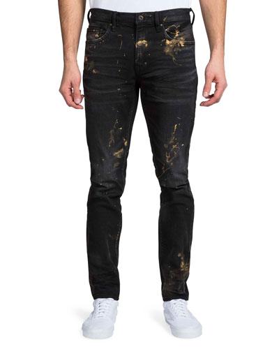 Men's Windsor Fit Painted Denim Jeans