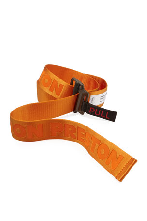 Heron Preston Men's NASA Logo Tape Belt