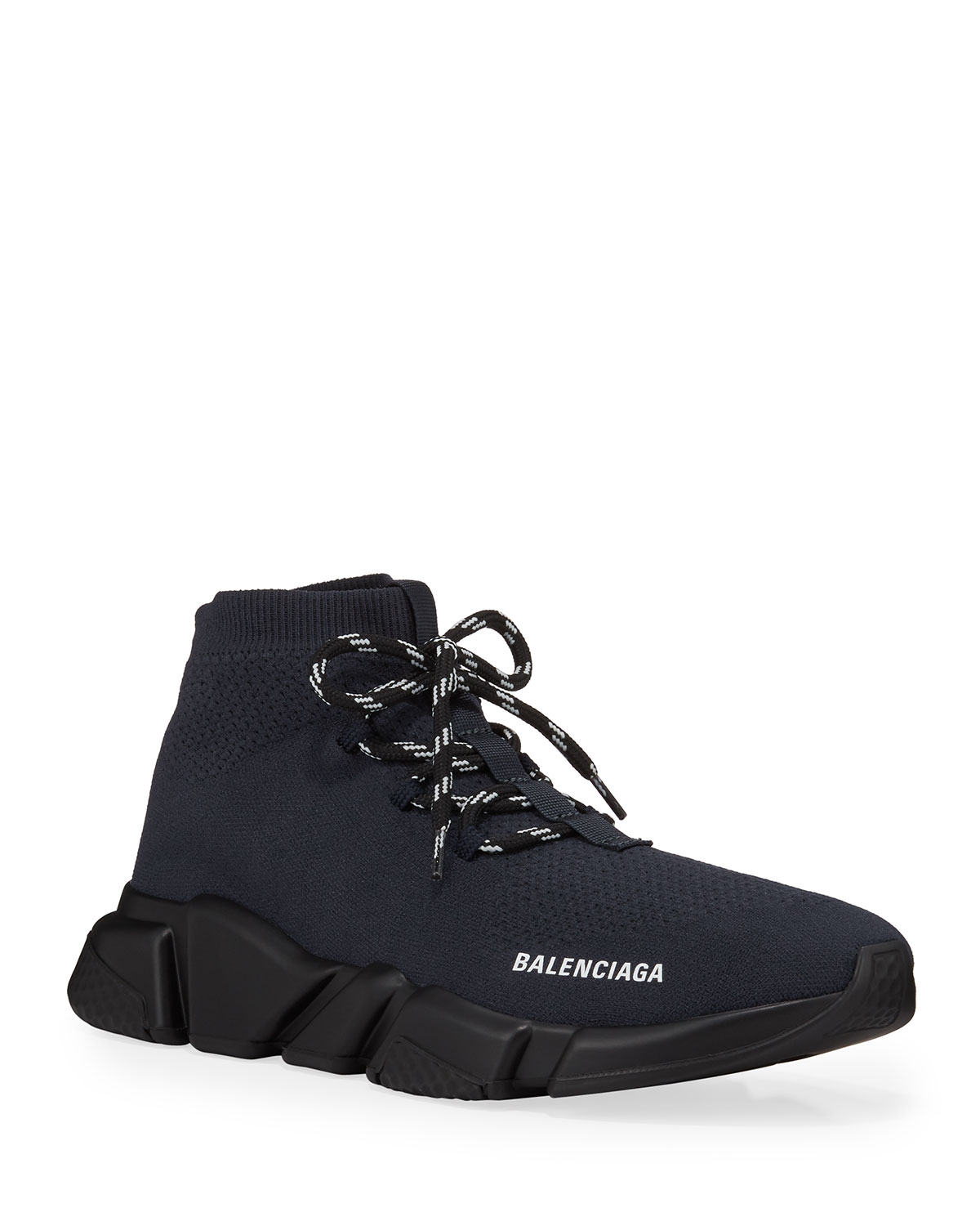 Men's Speed Lace Up Knit Sneaker by Balenciaga