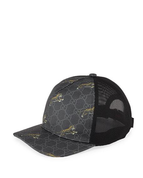 Gucci Men's Tiger GG Supreme Baseball Cap