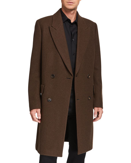 THE ROW Men's Mickey Double-Breasted Overcoat