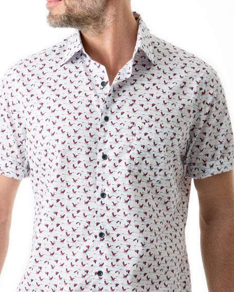 Rodd & Gunn Men's Montrose-Patterned Short-Sleeve Sport Shirt