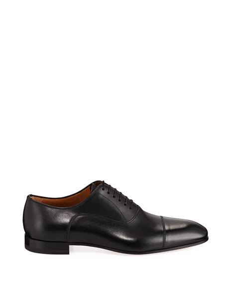 Christian Louboutin Greggo Men's Lace-Up Leather Dress Shoes