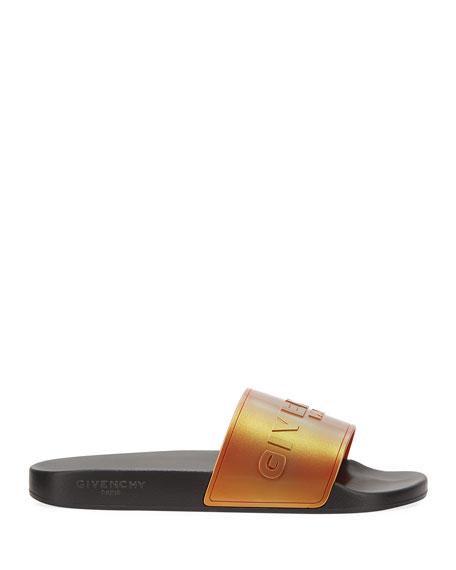 Givenchy Men's Logo-Print Rubber Slide Sandals