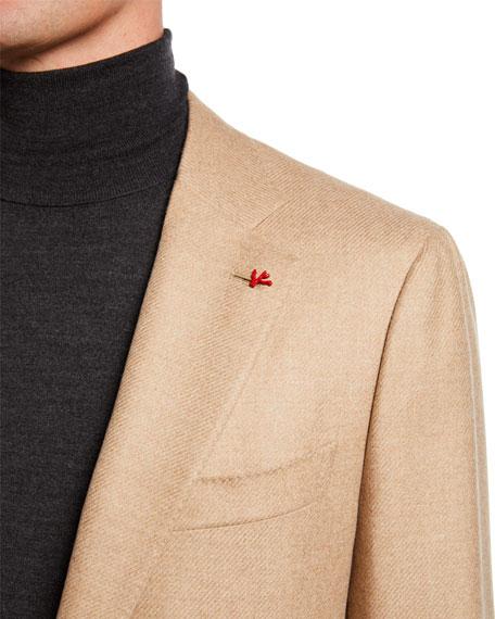 Isaia Men's Two-Button Twill Blazer