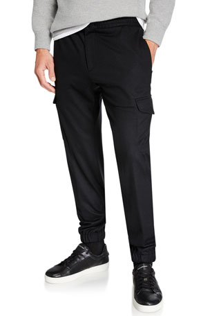 Ermenegildo Zegna Men's Wool Cargo Regular-Fit Jogger Pants