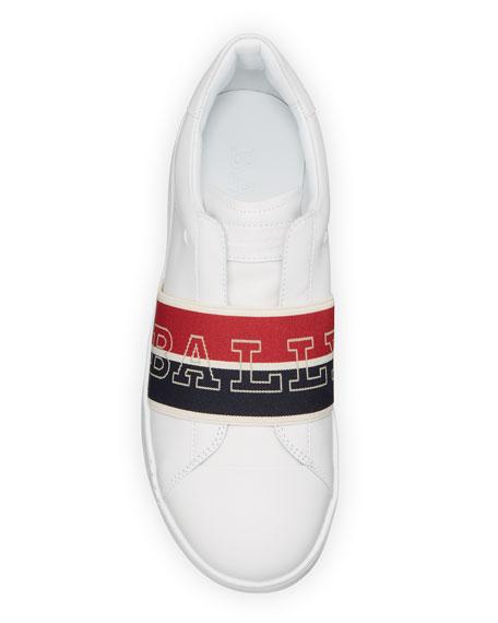 Bally Men's Wictor Logo Band Sneakers