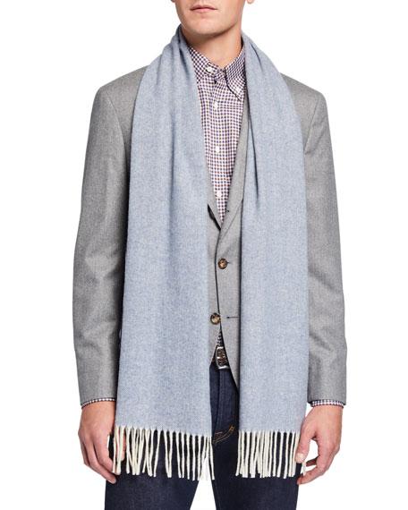 Eton Men's Wool Herringbone Scarf
