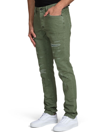 PRPS Men's Ripped Stitched Chino Pants