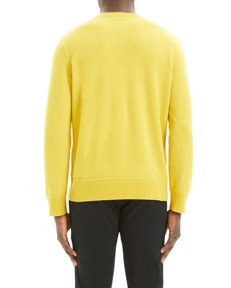 Theory Men's Hilles Solid Cashmere Crewneck Sweater