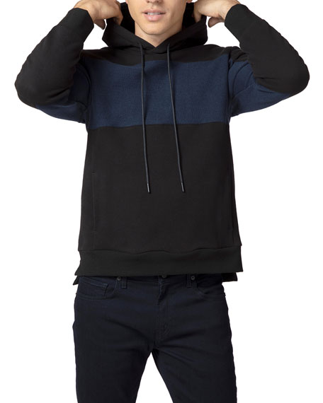 J Brand Men's Accido Colorblock Pullover Hoodie