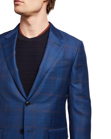 Ermenegildo Zegna Men's Plaid Wool Sport Jacket