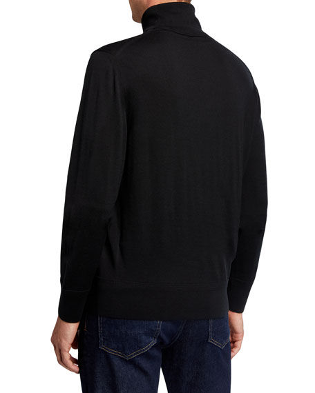 TOM FORD Men's Long-Sleeve Turtleneck Merino Wool Sweater
