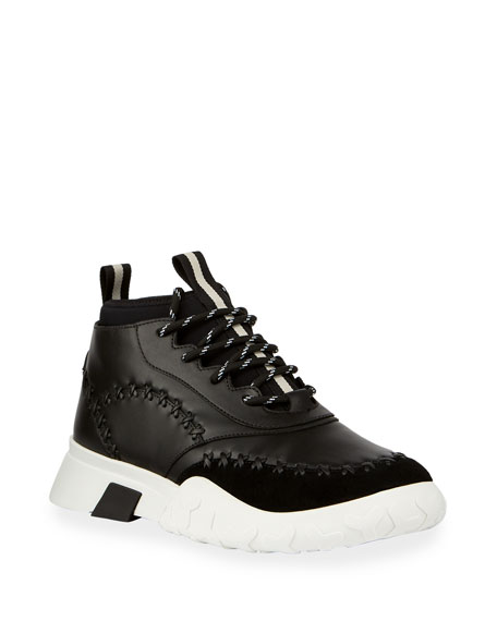 Bally Men's Gregg Mid-Top Sneaker with Tonal Stitching Detail