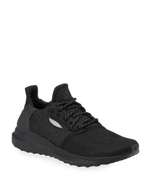 7c1f6666b43d0 adidas x Pharrell Williams Men's Solarhu Tonal Primeknit Running Sneakers