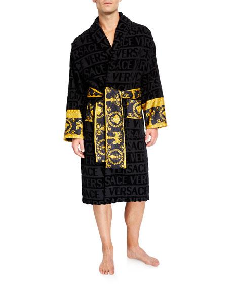 Versace Men's Barocco Logo Bath Robe