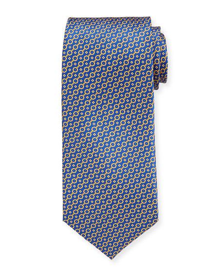Stefano Ricci Ties Men's Link Print Silk Tie