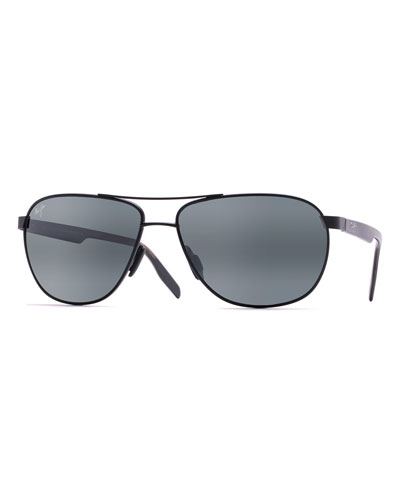 Men's Castles Polarized Metal Aviator Sunglasses