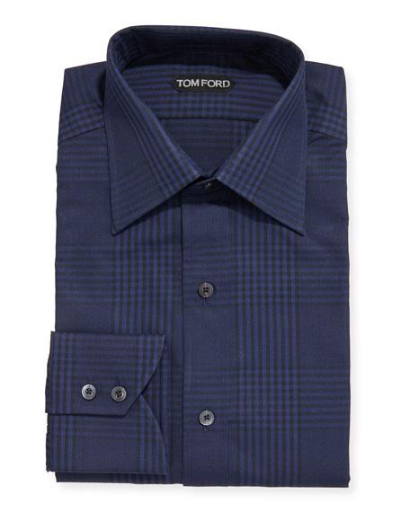 TOM FORD Men's Prince of Wales Plaid Dress Shirt
