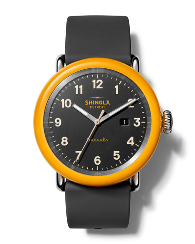 Men's The No. 2 Detrola 43mm Silicone Watch