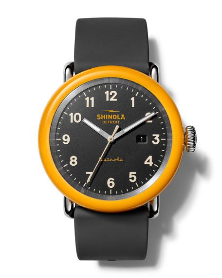Shinola Men's The No. 2 Detrola 43mm Silicone Watch