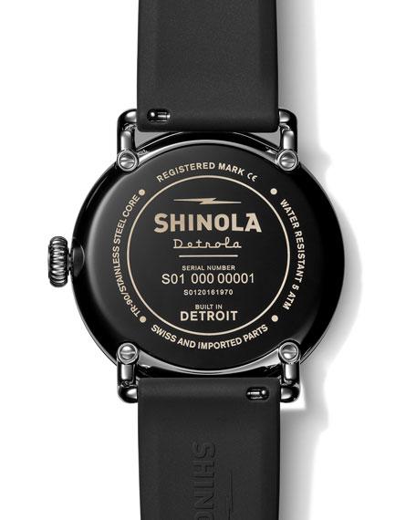 Shinola Men's Detrola The Model D 43mm Silicone Watch