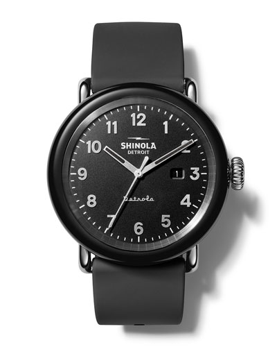 Men's Detrola The Model D 43mm Silicone Watch
