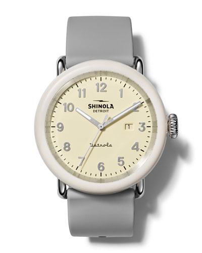 Men's Detrola The Pine Knob 43mm Silicone Watch