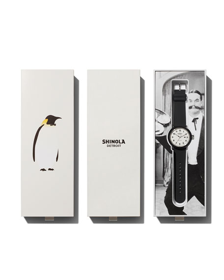 Shinola Detrola The Penguin 43mm Silicone Watch