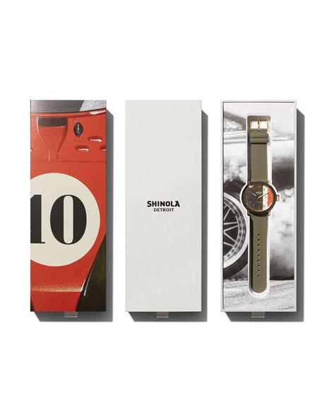 Shinola Men's Detrola The Burnout 43mm Silicone Watch