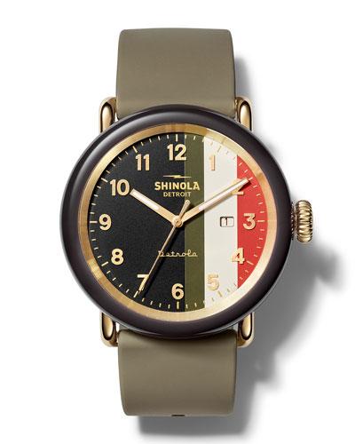 Men's Detrola The Burnout 43mm Silicone Watch