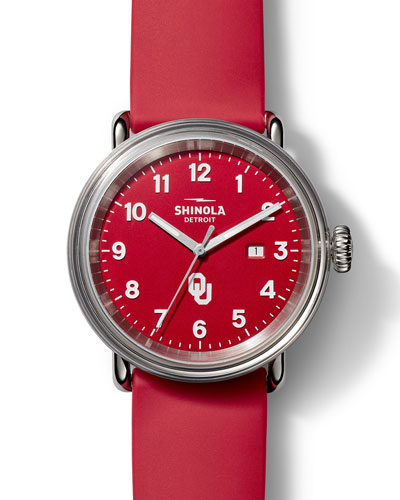 Men's Detrola OU Sooners 43mm Silicone Watch