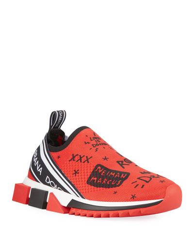 Men's Sorrento Graffiti Knit Trainer Sneakers