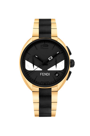 Fendi Men's 40mm Momento Fendi Bugs Chronograph Stainless Steel Watch