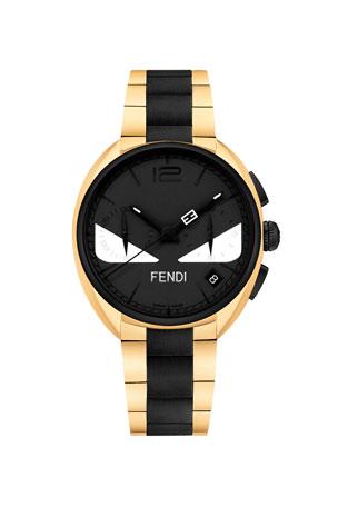 Fendi Men's 40mm Momento Fendi Bugs Chronograph Stainless Steel Watch