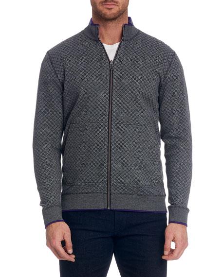Robert Graham Jackets Men's Mulhare Textured Zip-Front Jacket