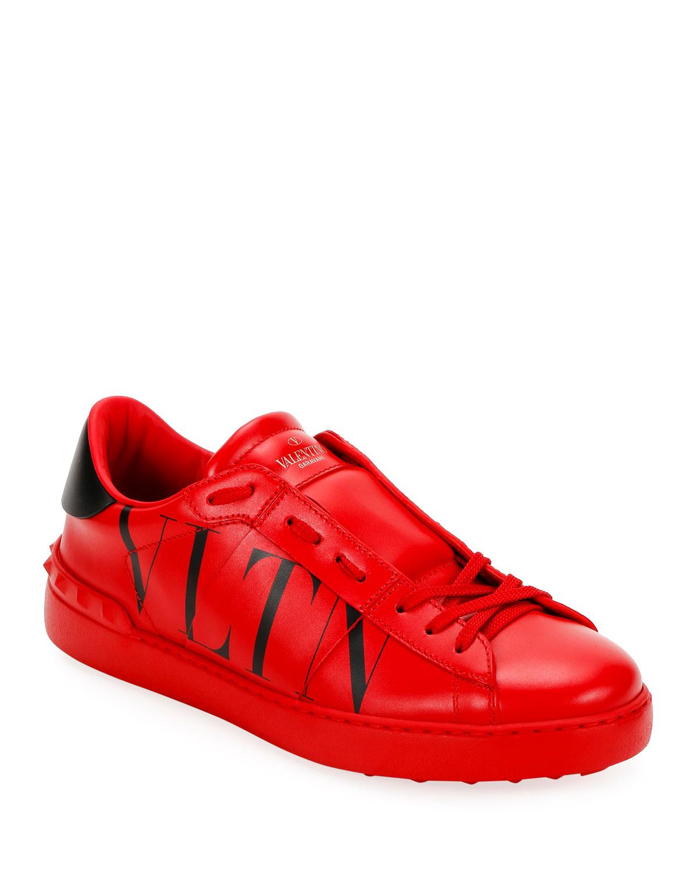Rockstud Walker VLTN Leather Sneakers