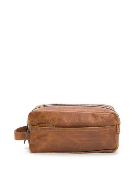 Frye Travel Men's Logan Antiqued Leather Travel Toiletry Case