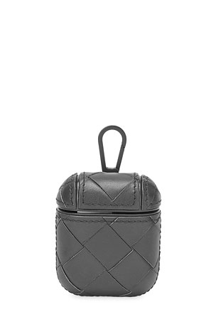 Bottega Veneta Men's Leather AirPod Case